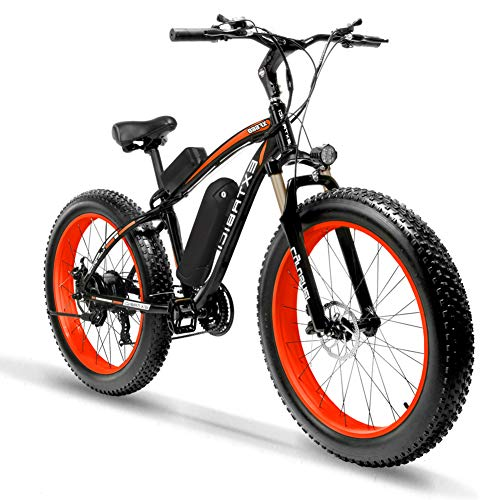 Extrbici XF660 Bicicleta eléctrica 48V 500W/1000W Bicicleta de montaña 7/21 velocidades 26 Pulgadas Marco de Aluminio 4 Pulgadas neumático Gordo...