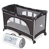 Joie Reisebett Allura 120 mit Babyeinhang und Tasche | inkl. Julius Zöllner Travelsoft Premium Reisebettmatratze 120 x 60 cm | Farbe Black Ink