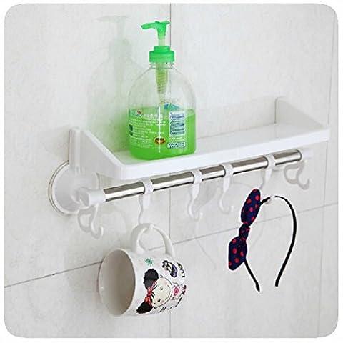 Plastik Badezimmer Küche Organizer Regal Rack Dreieck Dusche Ecke Caddy Korb mit Wand