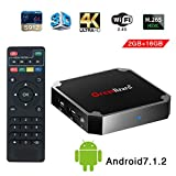 X96 Mini Smart TV Box Android, 7.1, Wingogo 2GB 16GB AMLOGIC Quad Core 2.4GHz WiFi 4 K Smart Set Top Box