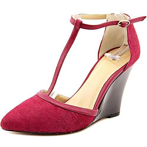 Sole Society Jolie Cuir Talons Compensés Red Wine