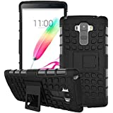 Dream2cool Hybrid Military Grade Armor Kick Stand Back Cover Case For LG G4 Stylus (Black)