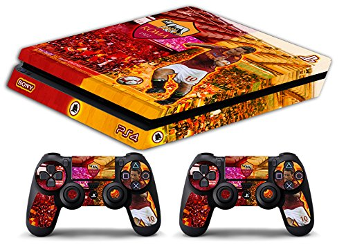 Skin Ps4 SLIM - AS ROMA TOTTI ULTRAS CALCIO - limited edition DECAL COVER ADESIVA Playstation 4 Slim SONY BUNDLE