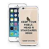 iPhone 7 Hülle von licaso® für das Apple iPhone 7 aus TPU Silikon Keep your Heels, Head & Standards High Coco Chanel