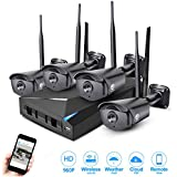 JOOAN 4CH 960P WIFI Security System 4 Channel CCTV DVR Recorder with 4 Outdoor Bullet Waterproof IP Camera Day/Night Surveillance - No HDD