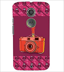 PrintDhaba camera D-5771 Back Case Cover for MOTOROLA MOTO X2 (Multi-Coloured)