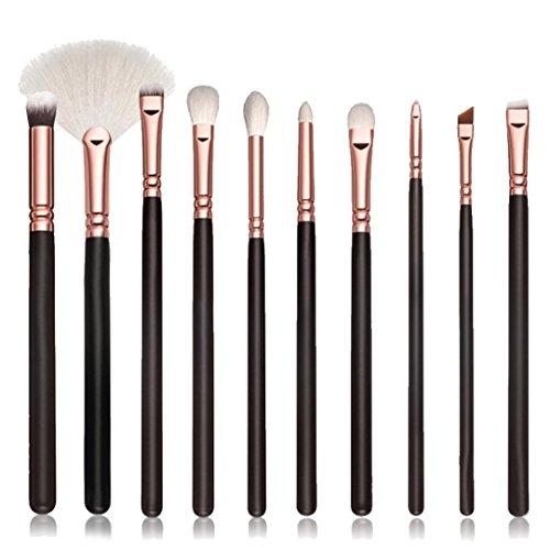Pinceaux à maquillage,Honestyi Outil cosmétique 50PCS / 10PCS Outils de kits Pinceaux éponge à paupières (Noir#1, 10pcs)