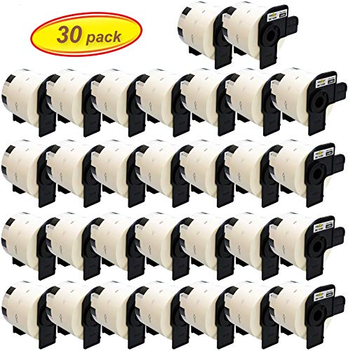 Yellow Yeti 30x DK-11209 29 x 62mm Adress-Etiketten kompatibel für Brother P-Touch QL-500 QL-570 QL-700 QL-710W QL-720NW QL-800 QL-810W QL-820NWB QL-1050 QL-1060N QL-1100 QL-1110NWB | 800 Stück/Rolle - 500 P-touch Ql Brother