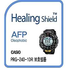 Healingshield Protectores de pantalla Oleophobic AFP Clear Film for Casio Watch Protrek PRG-240-1DR [Front 2pcs]