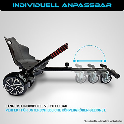 Bluewheel Hovokart HK200 Sitz Erweiterung für 6, 5 - 10 Zoll Hoverboard, E-Kart, Elektro Go-Kart, Sitzaufsatz, Schalensitz & Umbausatz, anpassbarer Stahl-Rahmen - 6