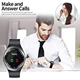 AKMY Touch Screen Bluetooth Wireless Y1S Smart Watch with Camera and sim Card Support for All Smartphones and Android Devices (Black)