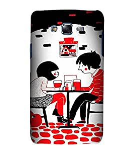 printtech Couple Date Love Back Case Cover for Samsung Galaxy J7 (2016 )