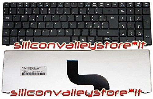 Siliconvalleystore Tastiera ITA KB.I170A.070 Nero Acer Aspire 7741G, 7741Z, 7741ZG, 7745, 7745G