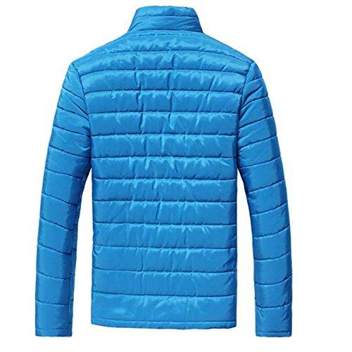 Uomo Inverno Cappotti Maniche Lunghe Tuta Sportiva Casuale Blu