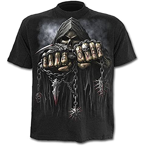 Spiral Game Over T-Shirt schwarz L