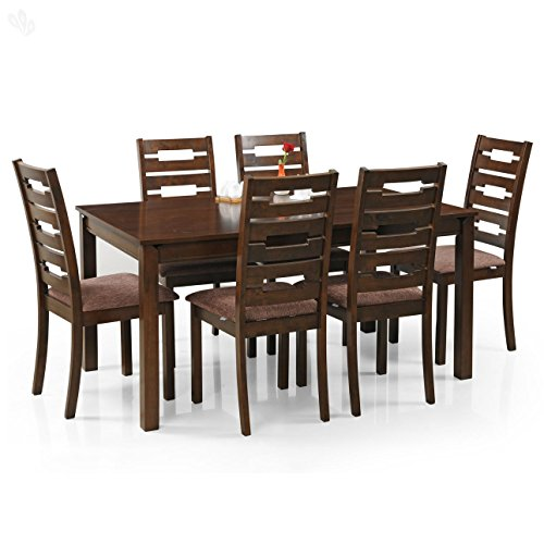Royal Oak Rocco Six Seater Dining Table Set (Walnut)