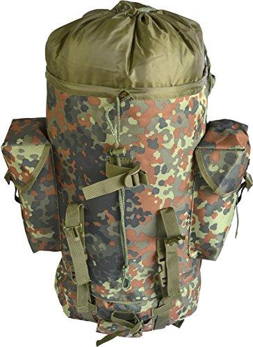 normani BW-Kampfrucksack, Einsatzrucksack, 65 Liter Farbe Flecktarn