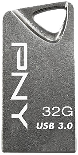 PNY Micro Chiavetta USB 3.0 T3 Attache, 32 GB, Metallo