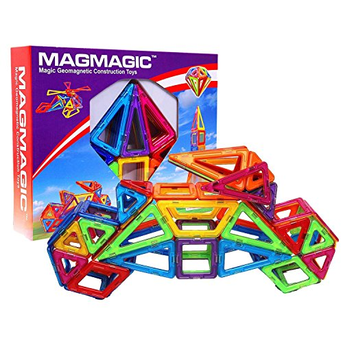 MAGMAGIC 62PCS Construction Building Toy Set Intelligence Mega Block Magnetic Smart DIY Toys Kit by Magmagic
