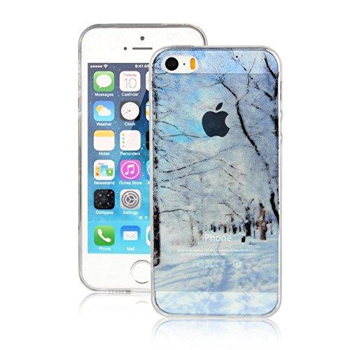 MOONCASE iPhone 5 Coque, Ultra Mince Motif Etui TPU Silicone Antichoc Housse Case pour iPhone 5 / 5s / SE (Paysage 10) Paysage 01