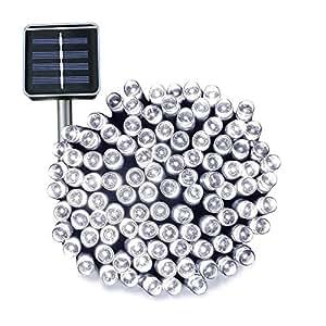 Esky® Luce Stringa LED per Esterni ad Energia Solare, 17m 100 Luci LED Solari per Giardini, Balconi, Natale, Feste, Matrimoni (Luce Fredda)