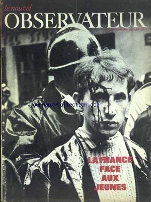 NOUVEL OBSERVATEUR (LE) [No 183] du 15/05/1968 - LA FRANCE FACE AUX JEUNES PAR DANIEL - BAKCMANN - NOTRE COMMUNE DU 10 MAI - DANIEL COHN-BENDIT - REVOLUTION DANS L'UNIVERSITE - BRESSON - CIXOUS - CULIOLI - MAXIMIN - MICHAUD ET MOTCHANE