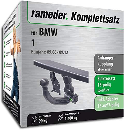 Rameder Komplettsatz, Anhängerkupplung abnehmbar + 13pol Elektrik für BMW 1 (137565-05114-2)