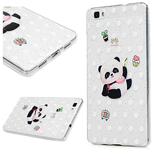 3x Cover iPhone 6S Silicone e Bling Glitter Brillanti, iPhone 6 Custodia Morbida TPU Flessibile Gomma - MAXFE.CO Case Ultra Sottile Cassa Protettiva per iPhone 6/6S - Modello 3 Modello 2