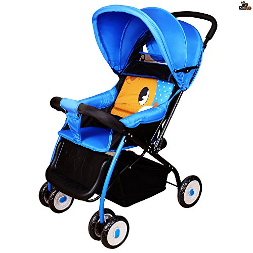 Kidbee 709A Baby Stroller with 3-Point Safety Belt - Blue