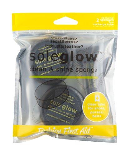 FASHION FIRST AID: Sole Glow: Schuhputzset Schuhglanz-Set Polierset mit 2 Schwämmen + Schuh-Pflege-Öl für Unterwegs