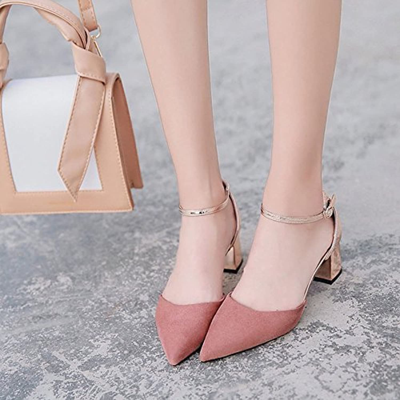 ZHZNVX Scarpe donna pu Comfort estivo sandali Chunky tallone tallone tallone punta per il verde rosa,rosa,noi6.5-7 EU37 UK4,5-... | Ordini Sono Benvenuti  | Uomini/Donne Scarpa  5547b7