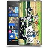 Head Case Designs Acampada Fotos De Aventura Garabateadas Caso Duro Trasero para Microsoft Lumia 535 / Dual SIM