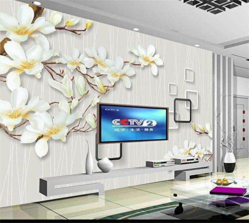 Wallpaper Benutzerdefinierte Fototapete Wohnzimmer Wand Mauer Jade Magnolie Blüten Malerei Sofa Tv Hintergrundbild Für Die Wand 3D 480Cm X 290Cm ()