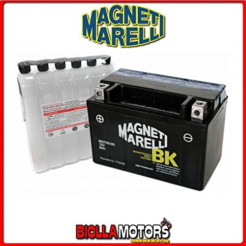 MOTX9-BS BATTERIA MAGNETI MARELLI YTX9-BS SIGILLATA CON ACIDO YTX9BS MOTO SCOOTER QUAD CROSS