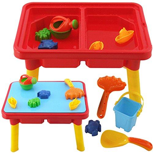 Sand & Wasser Spieltisch Sandkasten Tisch für Kinder (SET: 10 Teile) (Sandkasten Sand)