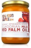 RealFoodSource Certified Organic Mild Red Palm Oil in Glass Jars (not to be confused with processed palm kernel oil) (500ml)