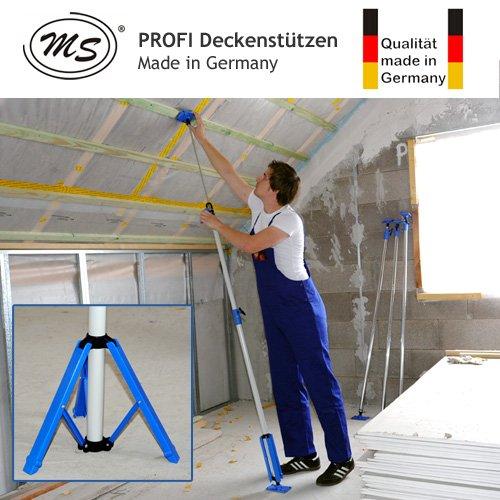 PROFI Universal Deckenstütze mit Standhhilfe - Die dritten Hand - 1.210-2.870mm - Tragkraft 40 kg - Made in Germany - MS-US2000