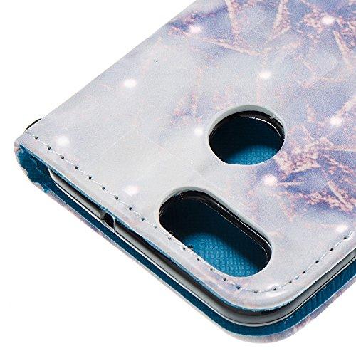 Marmor Stein Grain Texure Pattern PU Ledertasche Cover, Retro Bookstyle Flip Stand Case mit Magnetverschluss & Card Slots & Lanyard für HUAWEI NOVA 2 ( Color : B ) B