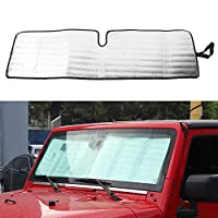 Windshield Sunshade Heat Shield Sun Visor Mat for Jeep Wrangler 2007-2017