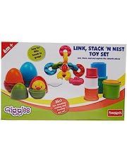 Funskool Link, Stack and Nest Toy Set,Multicolor