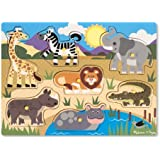 Melissa & Doug 19054 Safari Wooden Peg Puzzle