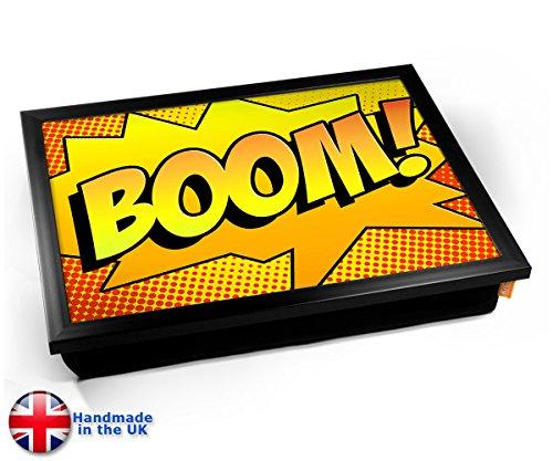 Comic Boom Cushion TV Dinner Lap Tray Kissen Tablett Knietablett Kissentablett - Schwarzer Rahmen
