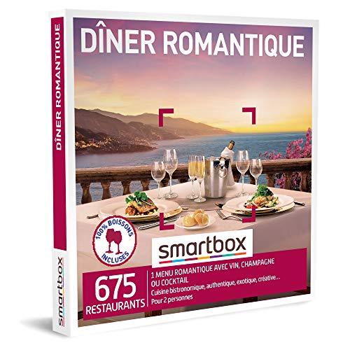 SMARTBOX - Coffret Cadeau couple - Dîner romantique - idée cadeau - 675 restaurants...