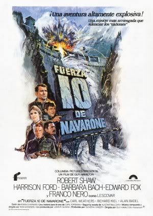 Force 10 from NAVARONE - Harrison Ford - Spanish - Movie Wall Art Poster Print - 43cm x 61cm / 17 Inches x 24 Inches A2 (Force 10 Navarone)