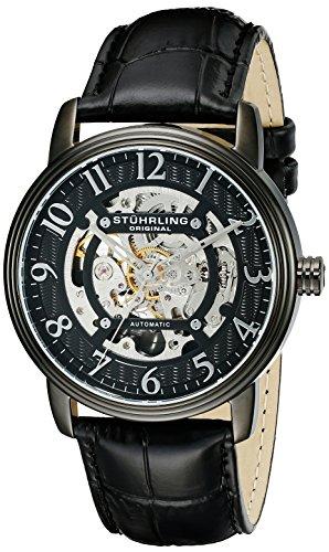 Stührling Original 970.04 - Reloj analógico para Hombre, Correa de Cuero, Color Negro