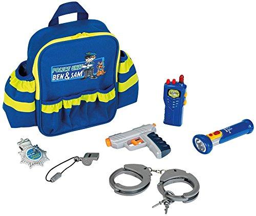 -Polizei Rucksack mit vielen Polizeiutensilien, Spielzeug, Blau ()