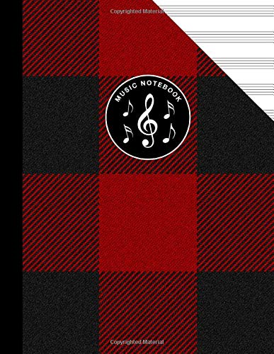 Scottish Tartan Music Manuscript Notebook Clan MacGregor Rob Roy Black Red: Blank Sheet Music Paper For Celtic Musician, Orchestra, Band, Fiddle Camp, Session Tunes -