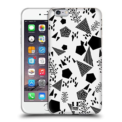 Head Case Designs Gatto Nero E Rosa Gatti A Pois Cover Morbida In Gel Per Apple iPhone 7 Plus / 8 Plus Geometrico