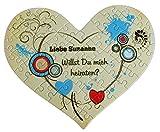 Herz Puzzle im Herz-Design mit eigenem Text als Gutschein oder Antrag
