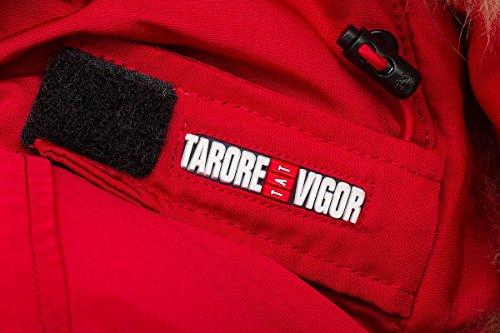6M166M Damen Daunenmantel Arctic Parka TARORE mit Echtfellkapuze (34, rot) - 6